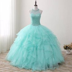 """Universe of goods - Buy """"Bealegantom 2019 New Real Photo Mint Quinceanera Dresses Ball Gown Beaded Sweet 16 Dress For 15 Years Vestidos De 15 Anos for only USD. Prom Dresses For Teens, A Line Prom Dresses, Formal Dresses For Women, Cheap Prom Dresses, Evening Dresses, Aqua Prom Dress, Fall Bridesmaid Dresses, Pageant Dresses, Homecoming Dresses"""