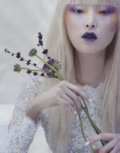 """""""blooming beauty"""" kim sung-hee by kang hyea-won for vogue korea february 2014."""