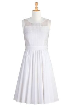 #eShakti, Dresses, White Dress- this would be great for her Rehearsal dinner!