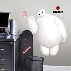 RoomMates RMK2809GM Big Hero 6 White Baymax Peel and Stick Giant Wall Decals -- Check out this great product.Note:It is affiliate link to Amazon.