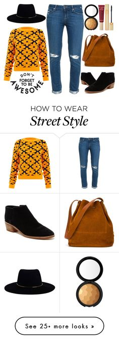 """Don't Forget To Be Awesome - Street Style OOTD"" by latoyacl on Polyvore featuring Dolce Vita, Paige Denim, Emma Cook, Too Faced Cosmetics, Yves Saint Laurent, Sophie Hulme and Zimmermann"