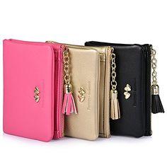 Vbiger Damen Portemonnaie Damen Geldbörse Elegant Portemonnaie mit der Großer Kapazität (Gold): Amazon.de: Koffer, Rucksäcke & Taschen