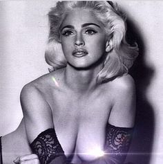 Who's that girl: Madonna posted this racy picture from the 1980s when she was likened to M...