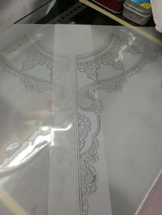 This Pin was discovered by Ami Embroidery Tattoo, Embroidery Neck Designs, Embroidery Works, Embroidery Motifs, Embroidery Dress, Beaded Embroidery, Embroidered Clothes, Embroidered Flowers, Corset Sewing Pattern