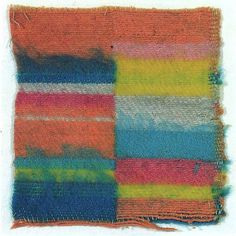 Gunta Stölzl - Sample for a throw - Cotton and wool - 16x15.5 cm (1927)