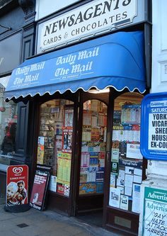 Ah - the newsagents - chocolate, sweeties, newspapers, magazines - Harrogate , via Flickr.