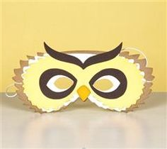 Create this fun owl mask for your next party event!