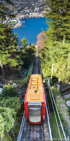 Brunate Tram in Lake Como, Lombardy, Italy