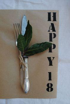 DIY birthday place mat #birthday #table #setting