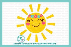 sun svg smiling sun svg file toddler svg file kids svg