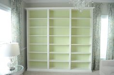 Built in Bookcase-Ikea Bookshelf Hack- Billy Bookcase Hack-Library Bookshelf