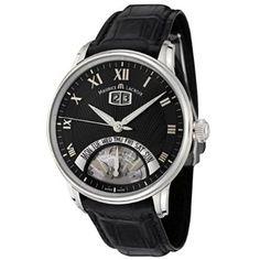 Maurice Lacroix Men's MP6358-SS001-31E Masterpiece Collection Automatic Black Crocodile Watch
