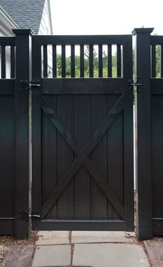 Black Vinyl Fence Panels