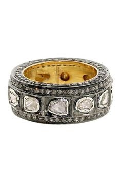 Bezel Diamond Pave Ring Band - 2.21 ctw by United Gemco Inc. on @HauteLook