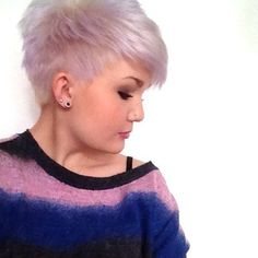 Pastel lilac under- and sidecut hair