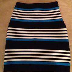 Express striped skirt Size 0, striped express skirt, never warn Express Skirts Mini