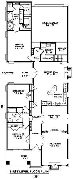 Doral House Plan shotgun house plan   house plans ...