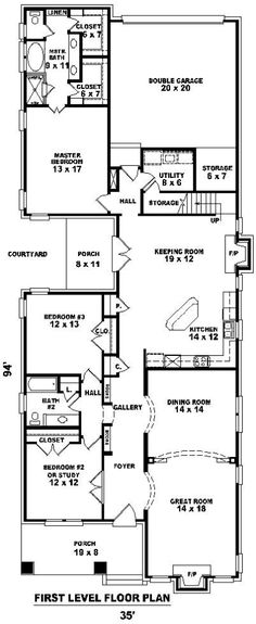 Boats house plans and day trading on pinterest for Shotgun home floor plans