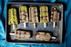 Pistachio ice cream bars