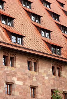 Toit, Allemagne, Lucarne, Ville, L'Architecture