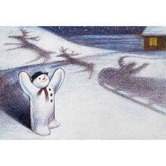 The Snowman : Raymond Briggs : 1982 Vintage Christmas Images, Christmas Photos, All Things Christmas, Christmas Snowman, Winter Christmas, Christmas Crafts, Father Christmas, Raymond Briggs, Winter Magic