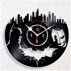 Reloj de pared de vinilo Batman