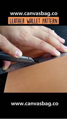 Leather Working Tools, Leather Craft Tools, Leather Wallet Pattern, Leather Bag