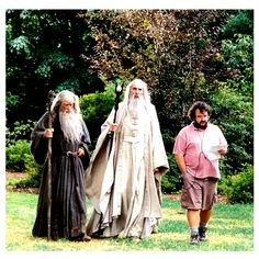 Gandalf the Grey, Saruman the White, and Peter the Pink! From @aintitcoolnews - #lotr #oneringtorulethemall