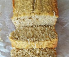 If you want to make someone& day, bake them this coconut banana bread recipe! It's so simple to make and yummy on its own or wonderful with toppings such as coconut yoghurt, honey or smashed banana Coconut Banana Bread, Banana Walnut Bread, Baked Banana, Banana Bread Recipes, Almond Recipes, Baking Recipes, Kiwi Recipes, Chocolate Almond Cake, Chocolate Banana Bread