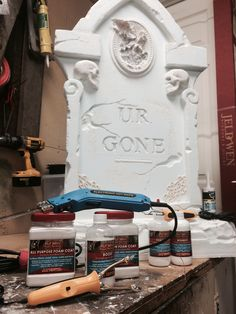 best tools for making halloween tombstones #hotwirefoamfactory, #ididitmyself…