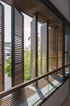 Ideas for house facade design modern architecture window Architecture Design, Tropical Architecture, Facade Design, Exterior Design, Singapore Architecture, Computer Architecture, Sustainable Architecture, Design Design, Design Ideas