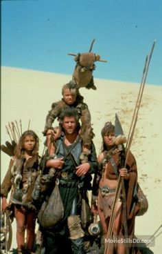 Mad Max Beyond Thunderdome publicity still of Mel Gibson