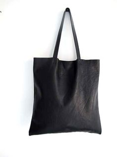 Gorgeous Supple Black Leather Tote Bag  Market Bag  by sord, $179.00