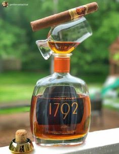 Good Cigars, Cigars And Whiskey, Scotch Whiskey, Bourbon Whiskey, Alcohol Bottles, Liquor Bottles, Perfume Bottles, Fun Drinks, Alcoholic Drinks