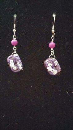 Purple Boom box Earrings