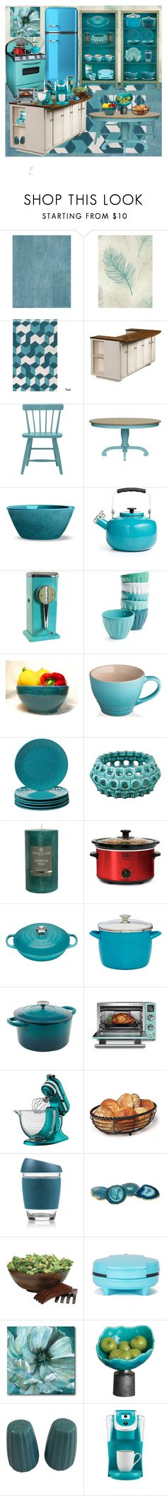 """Teal kitchen"" by gothbear13 ❤ liked on Polyvore featuring interior, interiors, interior design, home, home decor, interior decorating, Osborne & Little, On Your Feet, John Lewis and DutchCrafters"