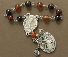 Football Single Decade Rosary by TripleTwisting on Etsy