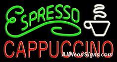 Neon Sign - ESPRESSO CAPPUCCINO - Extra Large $322.00