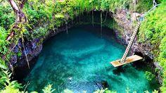 Like if you want to swim here ❤ @ Sua Ocean Trench, Samoa