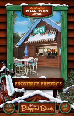 Walt Disney World Planning Pins: Frostbite Freddy's
