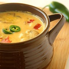 Roasted Jalapeno Soup - a creamy and spicy soup with a base of carrots ...