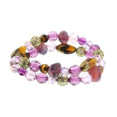 "Bourges Purple Medley Beaded Double Strand Bracelet 1928 Jewelry. $16.00. Measures: 6 1/2"" around x 1/2""W"
