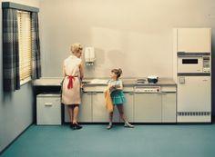 Retrospection of a kitchen from 1964. // So sahen Einbauküchen im Jahr 1964 aus. #historie #enjoysiemens
