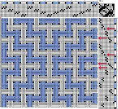 deflected double weave   10-shaft, 12-treadle