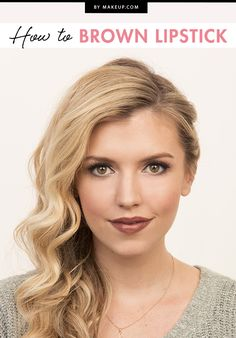 We've been keeping up with fall and winter trends, and the brown lip is one of them! Of all the winter lipstick colors, this is one of our favorites, and we'll show you how to pull it off.