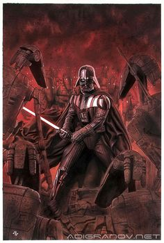 Star Wars: Darth Vader #4 - Adi Granov Love Stars, Lord Sith, Dark Father, Dark Lord, Star Wars Sith, Clone Wars, Star Trek, Marvel Comics, Star Wars Comics