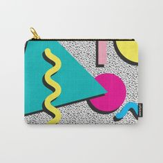 Abstract 1980's by Crafty Lemon  @society6 #vintage #graphic #design #80s #bag #cosmetics #women #men #makeup #pouch #society6 #products #design #shop #shopping #buy #sale #fun #gift #idea #accessory #accessories #home #decor #style #fashion #art #digital #contemporary #cool #hip #awesome #awesomeness #chic #fashion #style #print #wall #homedecor #sweet