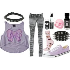 Pastel Goth Girl in the City Pastel Goth Outfits, Pastel Goth Fashion, 2000s Fashion, Look Fashion, Fashion Outfits, Cool Outfits, Casual Outfits, Cosplay, Kawaii Clothes