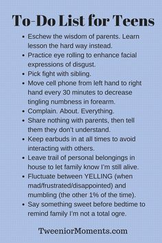Meme-To-Do List for Teens