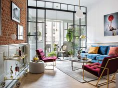 〚 Stylish apartment of a musician in Madrid 〛 ◾ Photos ◾Ideas◾ Design Madrid Apartment, Apartment Interior, Interior Doors, Interior Paint, Gravity Home, Modern Loft, Diy Bedroom Decor, Home Decor, Teen Bedroom